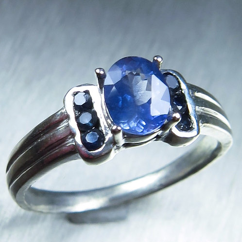 1cts Natural cornflower blue sapphire 925 Silver / Gold/ Platinum ring