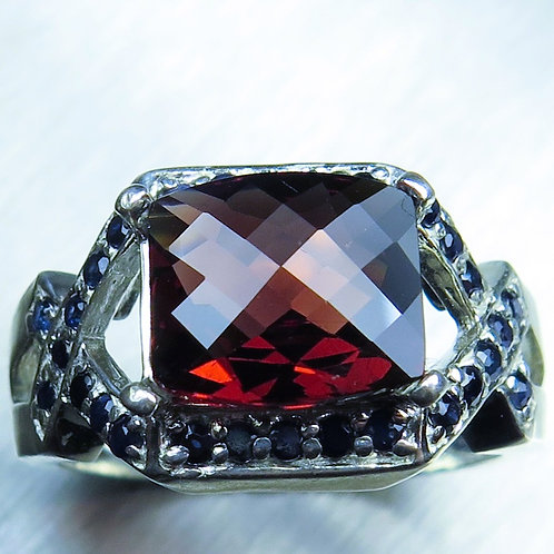 3.35ct Natural red Pyrope Garnet 925 Silver / Gold/ Platinum ring