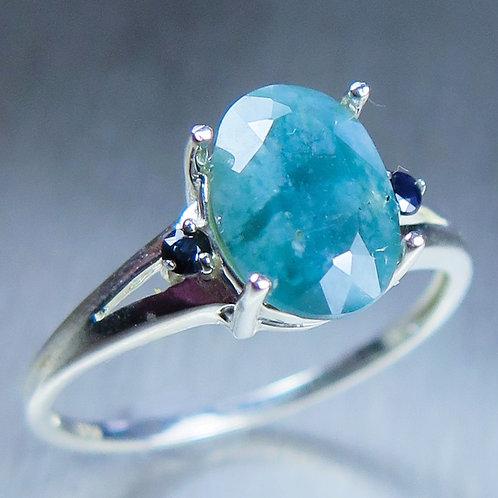 1.85cts Rare Natural Blue Grandidierite 925 Silver / Gold/ Platinum ring