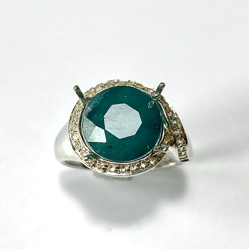 4.7cts Rare Natural Blue Grandidierite 925 Silver / Gold/ Platinum ring