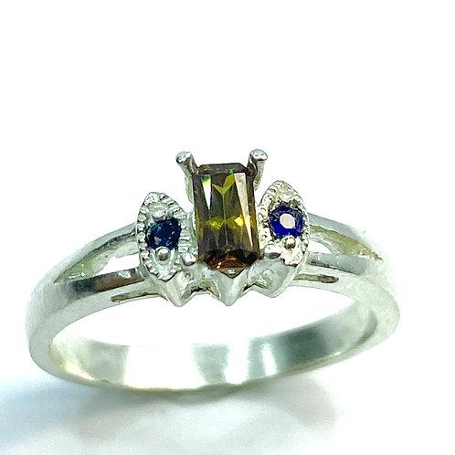 0.45ct Natural Bastnasite (Bastnaesite) 925 Silver / Gold/ Platinum ring