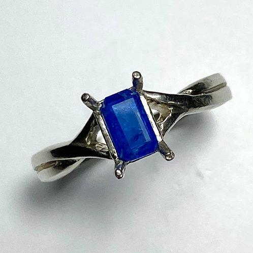 Rare 0.4ct Natural Afghanite 925 Silver/ Gold/ Platinum ring