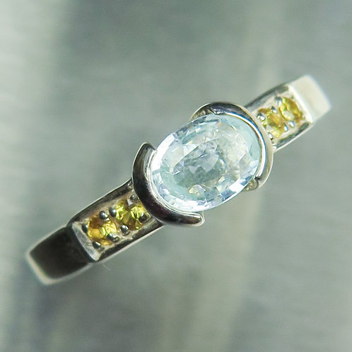0.5cts Natural paraiba blue tourmaline 925 Silver / Gold/ Platinum ring