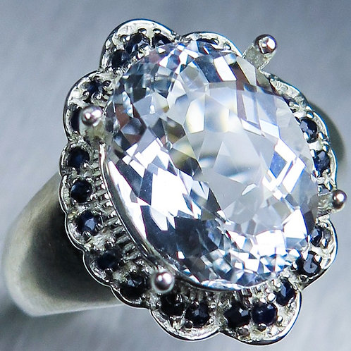 4.55cts Natural GosheniteBeryl 925 Silver / Gold/ Platinum ring