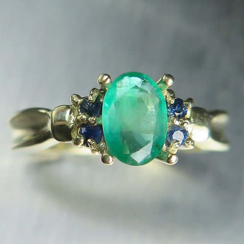 Certified Natural Colombian Emerald 925 Silver / Gold/ Platinum ring