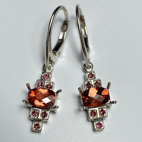 Natural Labradorite Silver /Gold / Platinum dangling earrings drop
