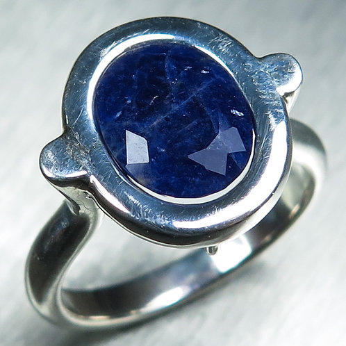 2.10ct Natural Blue Sodalite Silver / Gold / Platinum ring
