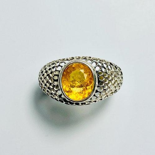 1.9cts Rare Natural yellow Clinohumite 925 Silver / Gold/ Platinum ring