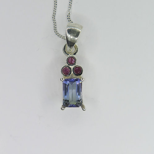 1.2ct Natural purple-blue Tanzanite Silver / Gold / Platinum pendant