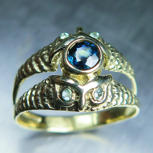 Natural Blue Sapphire 925 Silver/ Gold/ Platinum ring