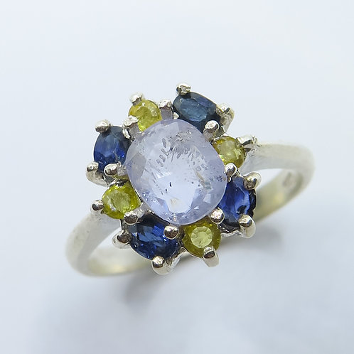 1.5ct Natural Light Cornflower blue sapphire 925 Silver / Gold/ Platinum
