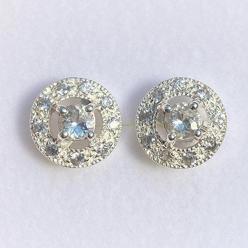 Natural Russian Phenakite Silver /Gold / Platinum stud earrings