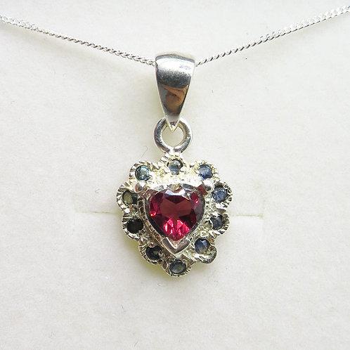 Natural Rhodolite Garnet Silver / Gold / Platinum pendant