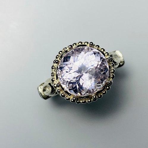 6.6ct Natural light Pink Kunzite 925 Silver / Gold/ Platinum ring