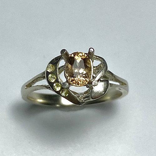 0.55cts Natural Axinite 925 Silver / Gold/ Platinum ring