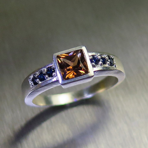 Natural Imperial Topaz 925 Silver / Gold/ Platinum ring