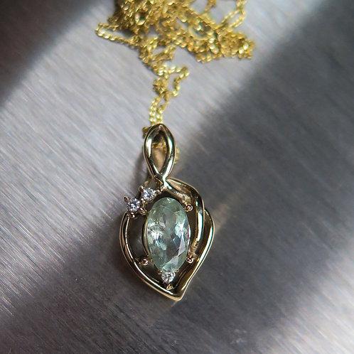 0.7cts Natural colour change Alexandrite 925 silver necklace, pendant