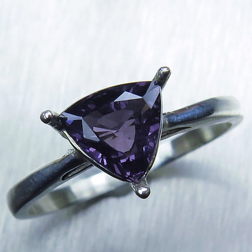 1.1ct Natural purple Spinel 925 Silver / Gold/ Platinum ring