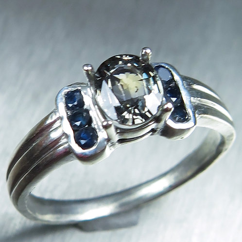 0.9ct Natural sapphire 925 Silver / Gold/ Platinum ring