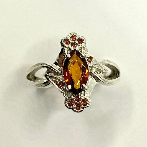 0.6ct Rare Natural Clinohumite 925 Silver / Gold/ Platinum ring