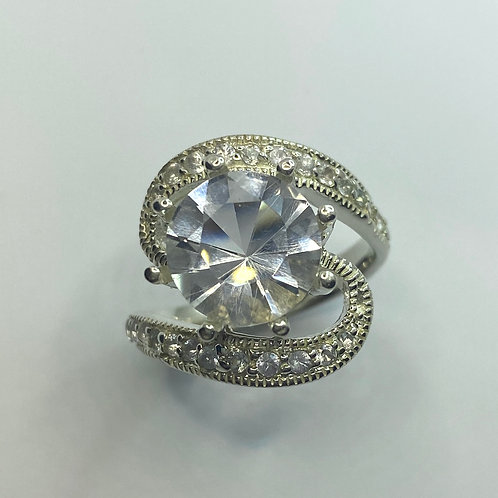 2.8ct RARE Natural Petalite 925 Silver / Gold/ solitaire engagement r