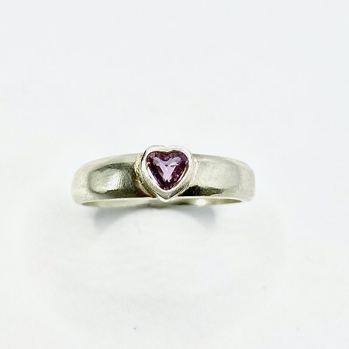 0.25ct Natural purple heart Sapphire 925 Silver / Gold/ Platinum ring