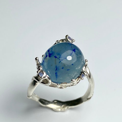 Rare 7ct Natural Afghanite 925 Silver/ Gold/ Platinum ring