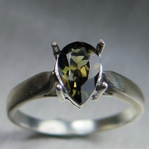 1.25ct Natural Kornerupine 925 Silver / Gold/ Platinum ring