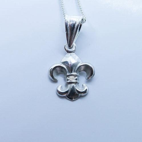 Natural white Diamond 925 Silver / Gold / Platinum pendant on chain