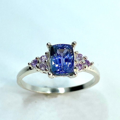 1.3ct Natural Tanzanite925 Silver / Gold/ Platinum engagement ring