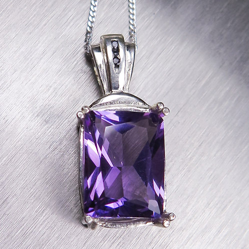 4.45ct Natural purple Amethyst Silver / Gold / Platinum pendant