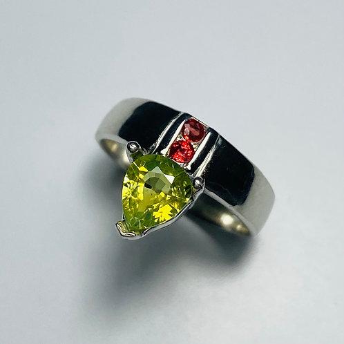 1.3ct Natural Chrysoberyl 925 Silver / Gold/ Platinum ring