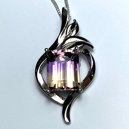 4.2ct Natural Ametrine Silver / Gold / Platinum pendant