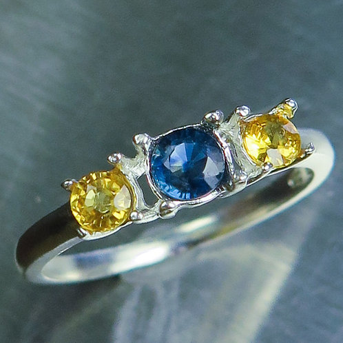 Natural royal blue sapphire 925 Silver / Gold/ Platinum ring