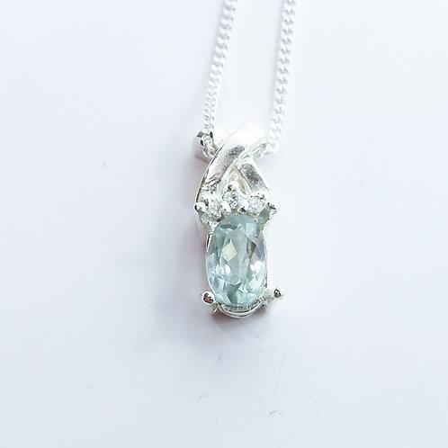 Natural colour change Alexandrite 925 silver necklace, pendant