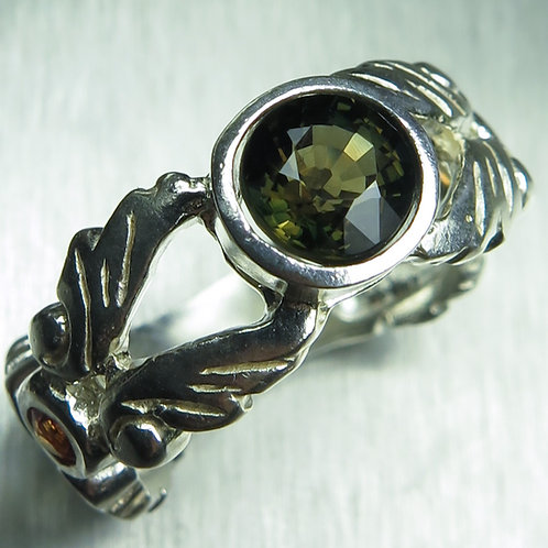 Rare Natural Kornerupine 925 Silver / Gold/ Platinum ring