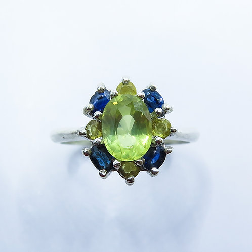 2ct Natural lemon yellow Chrysoberyl 925 Silver / Gold/ Platinum ring