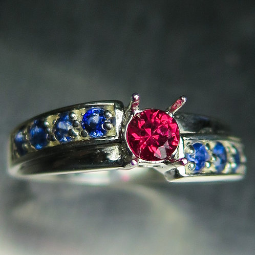Natural Red Spinel 925 Silver / Gold/ Platinum soli
