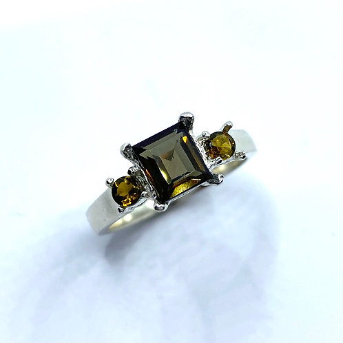 RARE 1.3cts Natural Kornerupine 925 Silver / Gold/ Platinum ring