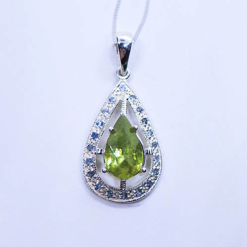 Natural Titanite Sphene Silver / Gold / Platinum pendant