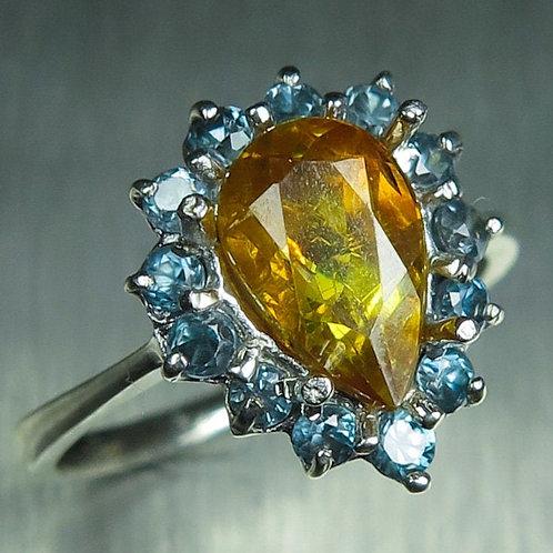 1.6ct Natural Sphalerite 925 Silver / Gold/ Platinum ring