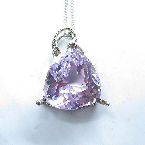 10ct Natural pink Kunzite Silver / Gold / Platinum pendant
