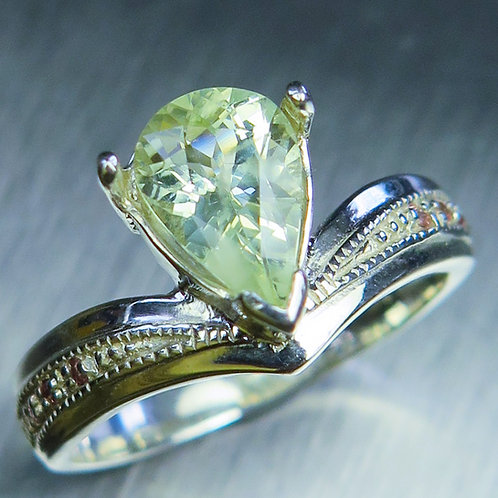 1.55ct Natural Chrysoberyl 925 Silver / Gold/ Platinum ring