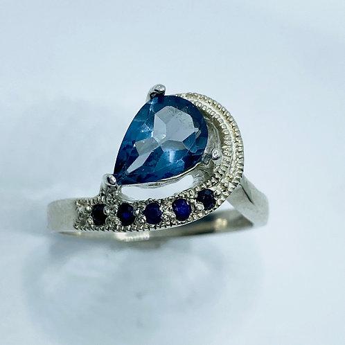 1.35ct Natural London Blue Topaz 925 Silver / Gold / Platinum ring