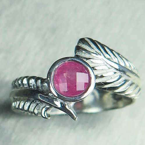 Natural Pink Spinel 925 Silver / Gold/ Platinum solitaire ring