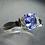 Thumbnail: 0.85ct Natural Tanzanite 925 Silver / Gold/ Platinum unisex ring