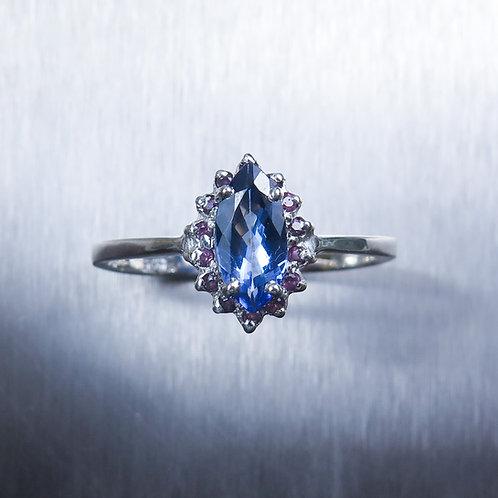 Natural Purple blue Tanzanite 925 Silver / Gold/ Platinum ring