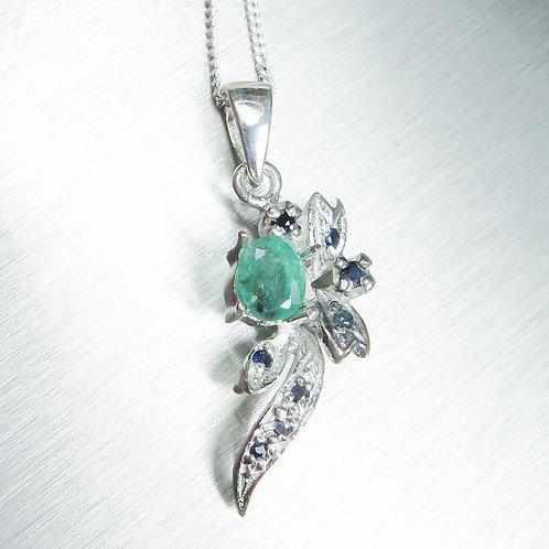 0.5ct Natural Emerald 925 Silver / Gold / Platinum pendant