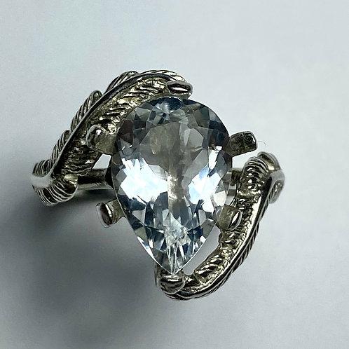 2.85cts Natural Goshenite Beryl 925 Silver / Gold/ Platinum ring
