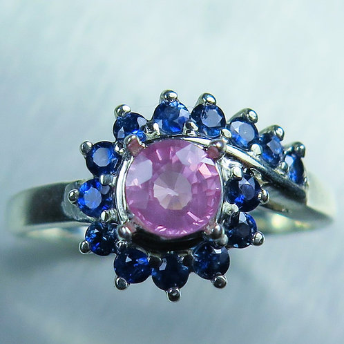 0.70ct Natural Pink Spinel 925 Silver / Gold/ Platinum ring